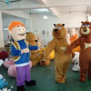 Supply Cartoon Bear Infested Clothing Xiong Xiong Erguang Forced To Go Head Dolls Walking Cartoon Character Costumes Clothes Mascot Costume