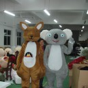 Supply Cartoon Doll Australian Koalas and Kangaroos Corporate Mascot Dolls Walking Cartoon Doll Clothing Mascot Costume