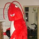Supply Crayfish Lobsters Walking Doll Cartoon Clothing Cartoon Dolls Clothing Props Shrimp White Shrimp Mascot Costume