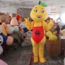 Supply Mid-autumn Festival Gift Grapefruit Orange Cartoon Clothing Cartoon Doll Cartoon Walking Doll Clothing Fitted Caps Mascot Costume
