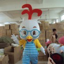 Supply Shanghai Rooster Cartoon Dolls Clothing Glasses Chick Chicken Walking Cartoon Clothing Doll Clothing Mascot Costume