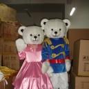 Supply Shanghai Wedding Clothing Couple Bear Bear Walking Doll Clothing Doll Clothing Cartoon Dolls Mascot Costume