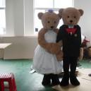 Supply Bear Cartoon Walking Doll Clothing Cartoon Dolls Wedding Celebration Apparel Clothing Costumes Mascot Costume