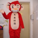 Supply Cartoon Doll Clothing Red Monkey Dolls Walking Clothing Cartoon Inflatable Gorilla Costume Dress Mascot Costume