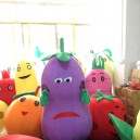 Supply Eggplant Walking Cartoon Doll Clothing Male Mascot Costumes Plush Doll Clothing Vegetables Bulk