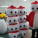 Supply Japan Christmas Snowman Cartoon Clothing Walking Cartoon Doll Clothing Performance Clothing Props Snow Po Doll Mascot Costume