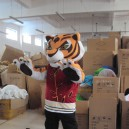 Supply Kung Fu Tiger Cartoon Tiger Costume Dolls Walking Cartoon Tiger Small Props Costumes Mascot Costume