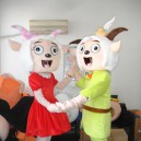 Supply Cartoon Costumes and Beautiful Sheep Pleasant Radiant Wolf Cartoon Dolls Walking Clothing Mascot Costume