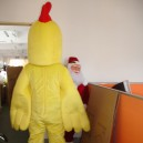 Doll Clothing Walking Cartoon Rooster Cock Hen Chicken Doll Clothing Cartoon Costumes Mascot Costume