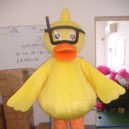 Supply Shanghai Cartoon Dolls Cartoon Clothing Big Yellow Duck Ducklings Walking Doll Clothing Corporate Mascot Mascot Costume