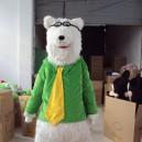 Supply Shanghai Cartoon Dolls Cartoon Polar Bear Polar Bear Costume Props Walking Dolls Doll Clothing Mascot Costume