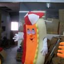 Supply Shanghai Cartoon Dolls Hot Dog Sausage Ham Costumes Fashion Show Props Walking Dolls Mascot Costume