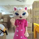 Supply Shanghai Walking Cartoon Doll Clothing Elf White Animal Dolls Cartoon Clothing Doll Clothing Mascot Costume