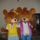 Supply Bear Bear Brother and Sister Walking Doll Clothing Doll Clothing Dress Fashion Show Stage Mascot Costume
