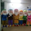 Supply Cartoon Santa Claus Costume and The Seven Dwarfs Snow White Cartoon Dolls Walking Doll Clothing Mascot Costume