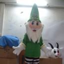 Supply Japanese Doll Christmas Santa Claus Walking Walking Doll Clothing Fashion Show Character Props Mascot Costume