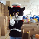 Supply Tom and Jerry Cartoon Clothing Black Sergeant Television Apparel Clothing Walking Doll Mascot Costume