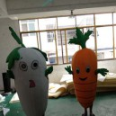 Supply White Radish Carrot Doll Cartoon Clothing Doll Fruits and Vegetables Radish Walking Doll Clothing Mascot Costume