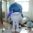 Supply Aquarium Dolphin Mascot Dolls Walking Cartoon Clothing Blue Dolphin Doll Clothes Doll Wig Props Mascot Costume