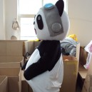 Doll Doll Wearing A Walking Activity Convincing Performance Costumes Can Pass Panda Kung Fu Bear Clothes Mascot Costume