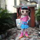 People Wear Cartoon Dolls Doll Wedding Headgear Walking Cartoon Dolls Performances Adult Costumes Mascot Costume
