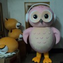 Supply Plush Animal Cartoon Doll Clothing Performances Props with Adult Eagle Owl Caps Clothing Mascot Costume