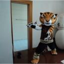 Supply Cartoon Characters Walking Cartoon Dolls Animal Tiger Costume Tiger Kung Fu Panda Kung Fu Bao Mascot Costume