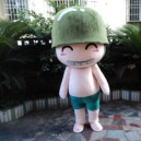 Supply Cartoon Doll Clothing Walking Cartoon Props Child Adult Clothing Wink Soldiers Performing Cannon Artillery Mascot Costume