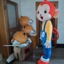 Custom Dolls Walking Cartoon Show People Wearing Headgear Headgear Props Clothing Sun Monkey Mouth Monkey Little Monkey You Laugh Mascot Costume