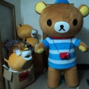 Supply Rilakkuma Easily Bear Wearing Man Walking Doll L 1.8 Japan Easily Bear Lazy Bear This Mascot Costume