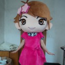 Supply Buka Pass Adult Walking Doll Clothing Doll Clothing Cartoon Show Little Girl Ayumi Mascot Costume