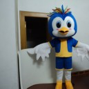 Supply Cartoon Doll Clothing Can Walk Mascot Cartoon Costumes Performing Blue Bird Wearing Doll Clothing Mascot Costume