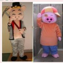 Bear Clothes People Wear Cartoon Show Mcdull Pig Journey Caps Stuffed Animal Doll Clothing Mascot Costume