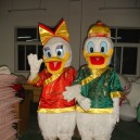 Supply Donald Duck Cartoon Clothing Costume Adult Couple Walking Donald Mascot Costume