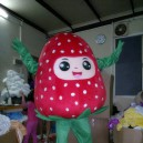 Supply Strawberry Fruit Cartoon Clothing Walking Cartoon Doll Clothing Doll Clothing Cartoon Costumes Strawberry Fruit Mascot Costume