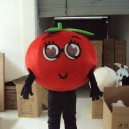 Supply Tomatoes Fruits and Vegetables Cartoon Costumes Walking Cartoon Dolls Dolls Tomato Theatrical Performances Advertising Mascot Costume