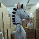 Supply Zodiac Horse Mascot Costume Cartoon Animation Props Zebra