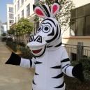 Zebra Horse Mascot Doll Clothing Cartoon Dolls Walking Adult Business Promotional Items Mascot Costume