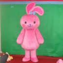 Supply Cute Bunny Cartoon Doll Clothing Cartoon Walking Doll Clothing Cartoon Show Clothing Pink Rabbit Doll Clothing Mascot Costume