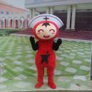 Lucky Cartoon Doll Clothing Walking Doll Cartoon Clothing Doll Clothes Show Little Nurse Mascot Costume