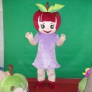 Supply Red Apple Red Apple Walking Cartoon Doll Clothing Cartoon Show Clothing Cartoon Dolls Apple Mascot Costume