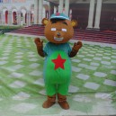 Supply Cartoon Doll Clothing Cartoon Walking Doll Clothing Cartoon Dolls Dress Red Bear Mascot Costume