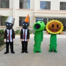 Supply Zombies Cartoon Doll Clothing Iron Barricades Adult Walking Zombie Peas Sunflower Costume Mascot Costume