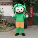 Supply Leaf Cartoon Doll Clothing Cartoon Walking Doll Clothing Cartoon Show Clothing Doll Dress Green Leaves Mascot Costume