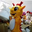 Cartoon Doll Clothing Cartoon Zodiac Dragon Dragon Cartoon Costumes Cartoon Clothing Blue Dragon Dinosaur Mascot Costume