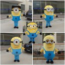Small Yellow People Walking Cartoon Doll Clothing Doll Costume To Map Animation Clothing Props Stage Performances Mascot Costume