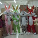 Supply Easter Bunny Halloween Costume Cartoon Doll Costume Bugs Bunny Cartoon Costume Multicolor Mascot Costume
