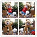 Bear Events Show Performance Props Dress Up Doll Clothing Cartoon Dolls Plush Toys Clothing Mascot Costume