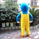 Cartoon Doll Clothing Boutique Plush Doll Toy 1.7 M Adult Walking Performance Clothing Rainbow Blue Cat Rabbit Mascot Costume