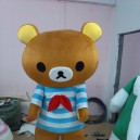 Supply Easily Bear Dolls Doll Clothes Lazy Bear Rilakkuma Cartoon Show Clothing Wholesale Professional Mascot Costume